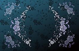 手繪黑色花朵背景