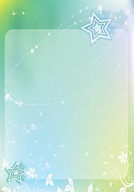 簡約白色花紋五角星背景