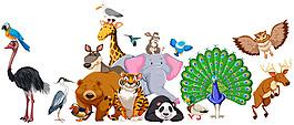 野生動物矢量素材