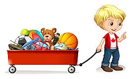 孩子和玩具