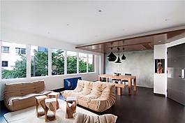 北歐現代客廳裝修效果圖