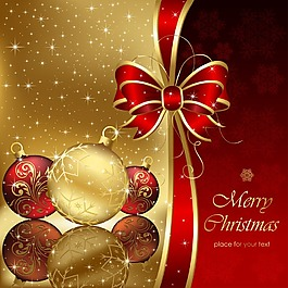 金色圣誕吊球背景