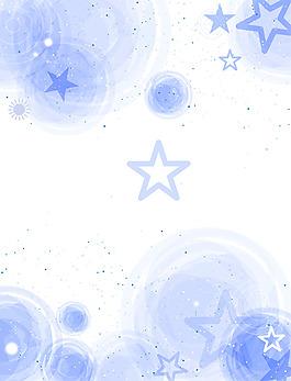 蓝色五角星背景