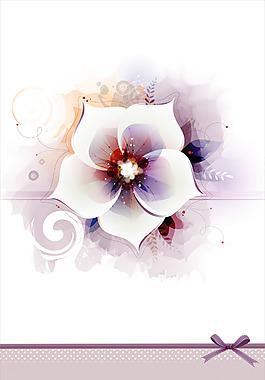 夢幻白色花朵背景