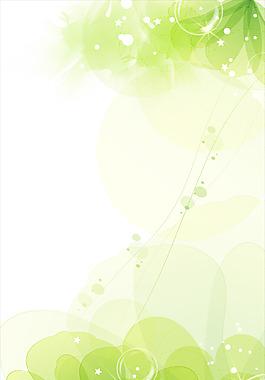 夢幻綠色花朵背景