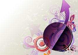 紫色箭頭圈圈背景