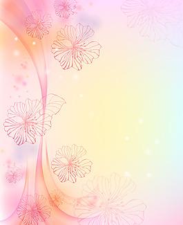 夢幻紅色花朵背景