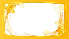 黄色线条五角星背景
