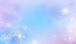 簡約白色花紋背景