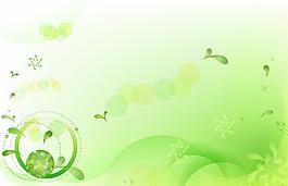 清新綠色線條背景