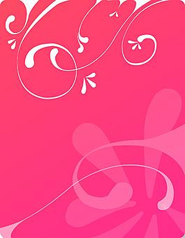 白色花紋粉底背景