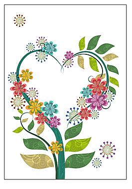 卡通花卉花藤素材背景設計