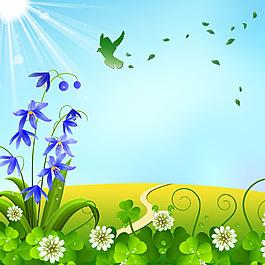 花朵青草花蕊水珠樹葉高光素材