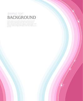 矢量彩色絲帶花紋背景