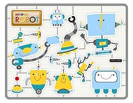 卡通電器元素設計