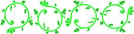 綠色矢量花藤元素設計