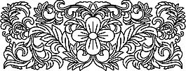 花紋線稿裝飾素材