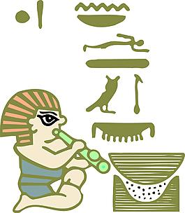 卡通古埃及人物