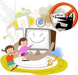 卡通人物电视素材设计