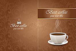褐色花紋咖啡背景
