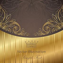 金色花紋質感背景
