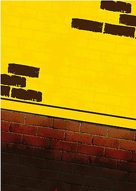 水墨黃色墻壁背景