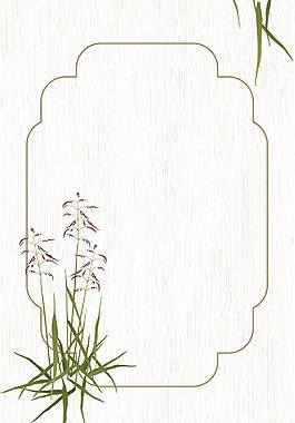 中國風花朵邊框背景