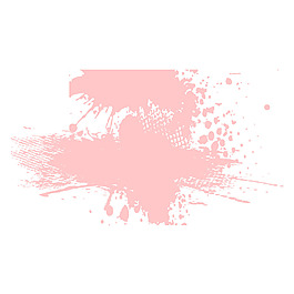 手繪粉色水墨元素