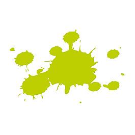 手繪綠色水墨元素