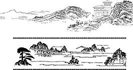 手繪山峰插畫