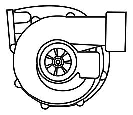 增壓器矢量素材-W-8
