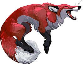 跳躍的狐貍矢量圖