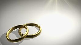 金色戒指元素視頻背景