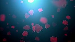 桃心元素視頻背景設計