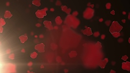浪漫桃心元素視頻背景