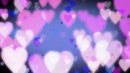 粉色桃心元素視頻背景