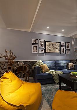 現代簡約家居客廳裝修效果圖