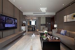 中式簡約客廳裝修效果圖