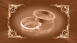 戒指婚禮素材視頻背景