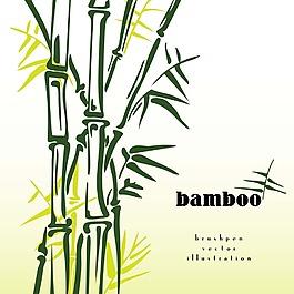 竹子矢量插畫背景素材