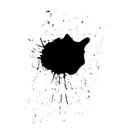 黑色水墨暈染元素