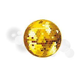 金色亮片圓球元素