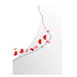 紅心線條元素