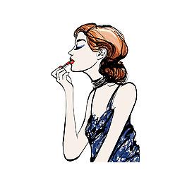 手繪美女化妝元素