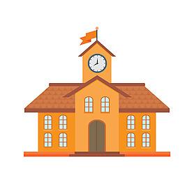 黃色學校建筑元素