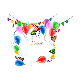 彩色氣球裝飾元素