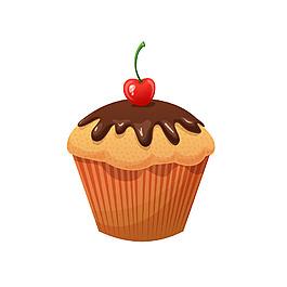 手繪巧克力蛋糕元素