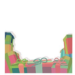 手繪禮盒蝴蝶結元素