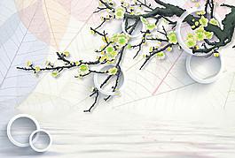 立體圓環梨花圖片