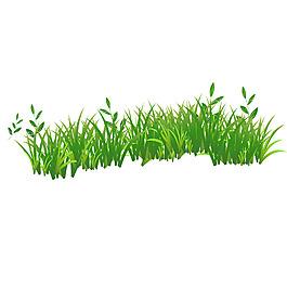 清新綠草矢量元素